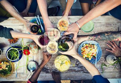 Naklejka Pyszne jedzenie Tabela Zdrowa Meal Praca organiczna