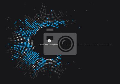 Naklejka Radialna kratownica projekt graficzny, abstrakcyjne tło.