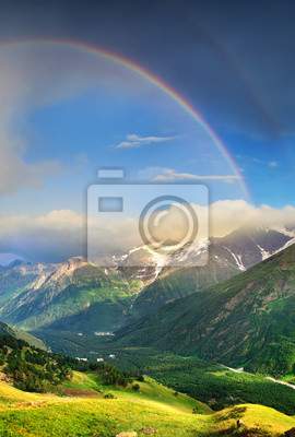 Naklejka Rainbow pod grzbiet. Panoramiczny krajobraz w okresie letnim