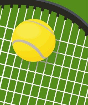 Naklejka Rakieta do tenisa i piłki