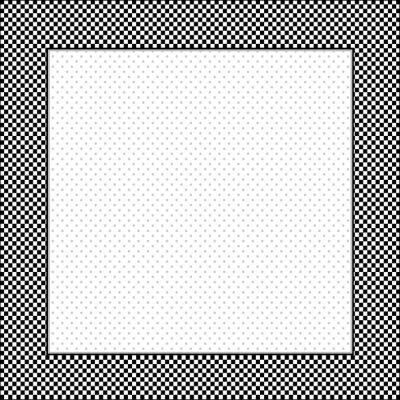Naklejka Rama, czarny, biały wyboru ramka, plac polka dot kopia przestrzeń