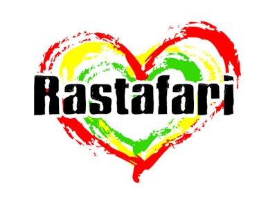 Naklejka rastafari Miłość