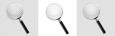 Naklejka Realistic Magnifying glass vector isolated vector illustration on transparent background