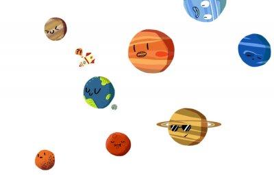 Naklejka Realistyczne Fantastic Cartoon Style Artwork / Story / Scena / Tapety / Tło / karty Projektowanie.