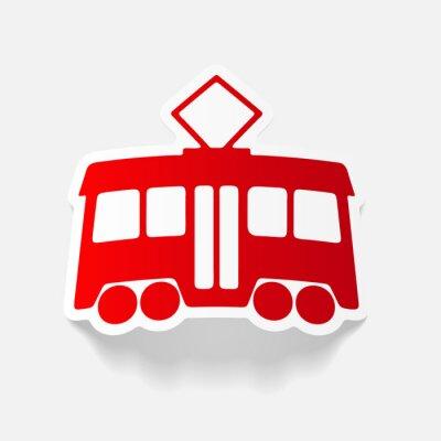 Naklejka realistyczny element: tramwaj