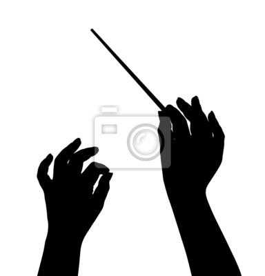 Naklejka Ręce dyrygent Muzyka