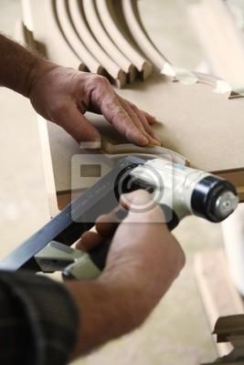 Naklejka ręce rzemieślnika