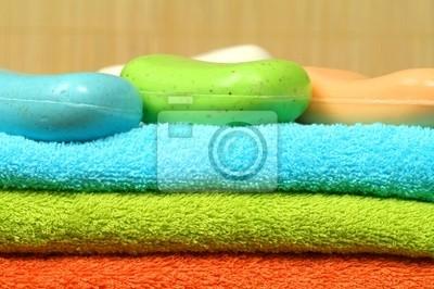 Naklejka Ręczniki i mydła