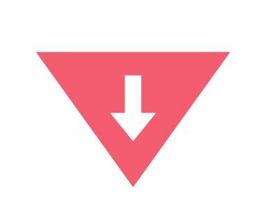 Naklejka red arrow sign