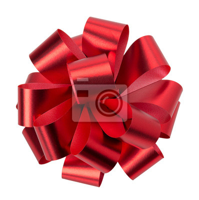Naklejka red bow isolated on the white background