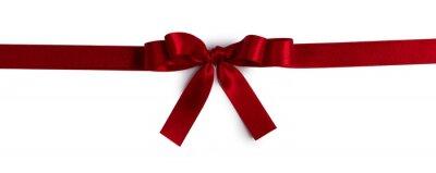 Naklejka Red bow isolated on white