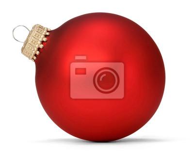 Naklejka Red Christmas kulki