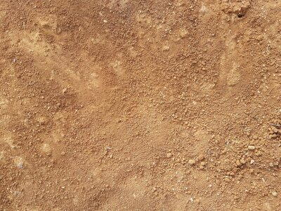 Naklejka Red Dirt road texture Soil background