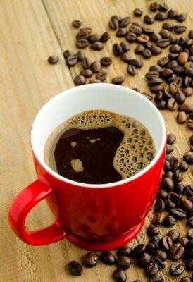 Naklejka Red filiżanka kawy