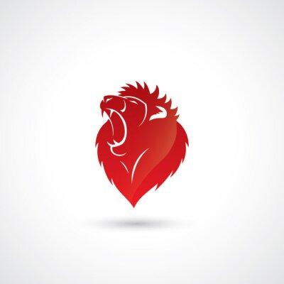Naklejka Red Lion godło
