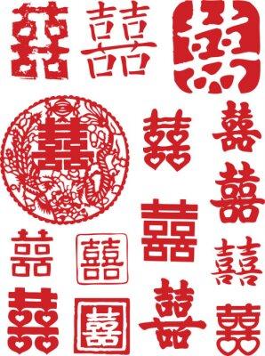 Naklejka red orientalne szczęścia