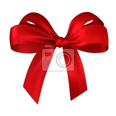 Naklejka red prezent, wstążka, łuk