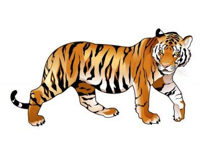 Naklejka Red Tiger.
