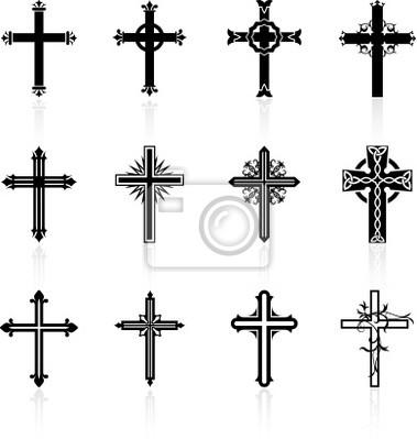 Naklejka religijnych Krzyż z kolekcji