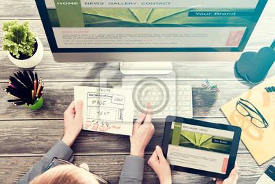 Naklejka Responsive web design