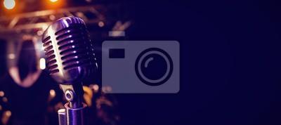 Naklejka Retro mikrofon na koncercie