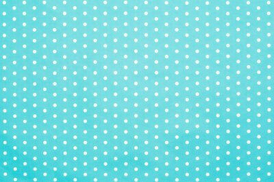 Naklejka retro niebieski wzór polka dot