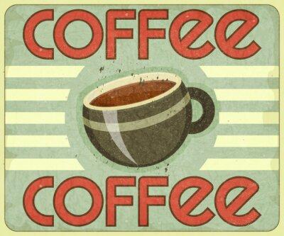 Naklejka Retro Pokrywa Coffee Menu