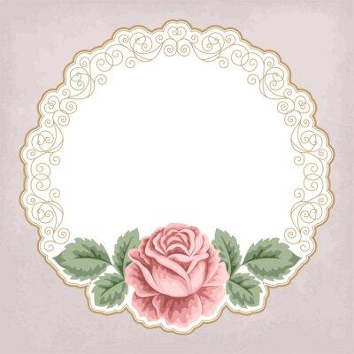 Naklejka Retro tła z róż