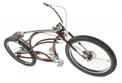 Naklejka Retro tytułowana rowerów odizolowane na białym