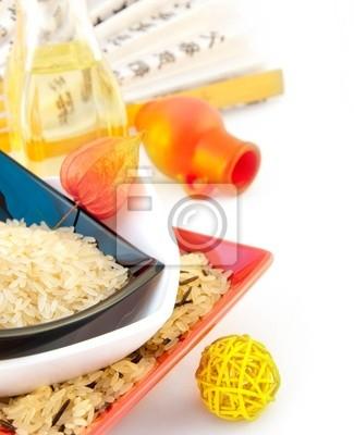 Rice w płytach wielokolorowych, japoński fan