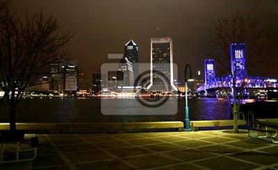 Naklejka riverwalk nocny