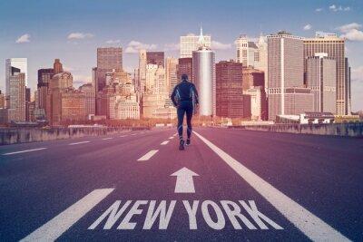 Naklejka Road to new york city marathon