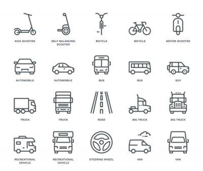Naklejka Road Transport Icons