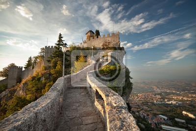 Naklejka Rocca della Guaita, Zamek w San Marino