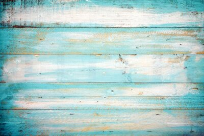 Naklejka rocznik drewna beach tła - stary kolor niebieski drewniane deski