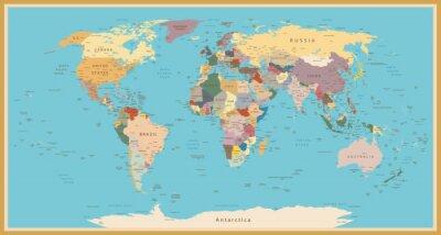 Naklejka Rocznika mapie świata