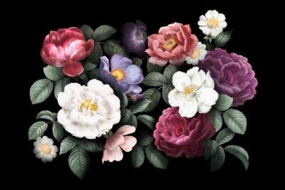 Naklejka Romantic floral background
