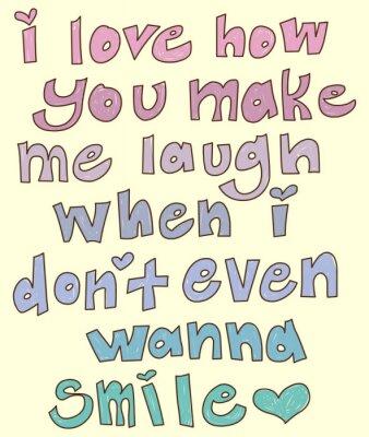 Naklejka Romantic Quote