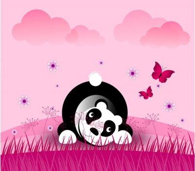 Naklejka Romantyczny Panda Bear