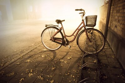 Naklejka Rower jesienią