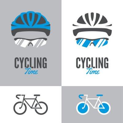 Naklejka Rower, kask i okulary na rowerze