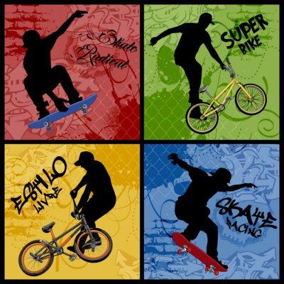 Naklejka Rower kontra Skate