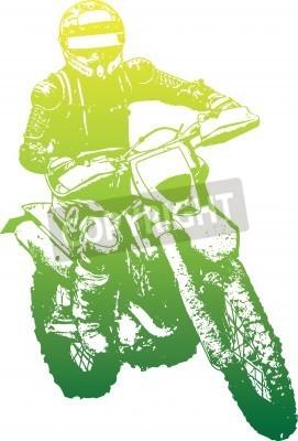 Naklejka rowerzysta