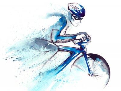 Naklejka Rowerzysta Racing