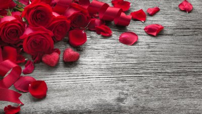Naklejka Róże na desce