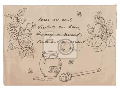 """""""Róże są czerwone, fiołki są niebieskie .."""" wierszyk i rysunki"""