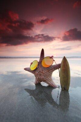 Naklejka Rozgwiazda surfer na plaży