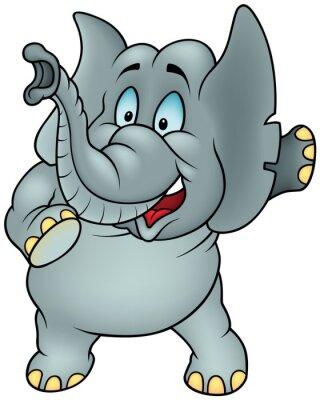 Naklejka Rozmowa Elephant - Cartoon kolorowych ilustracji wektorowych