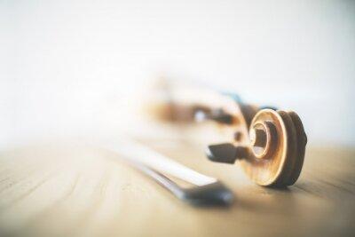 Naklejka Rozmyte skrzypce i smyczek