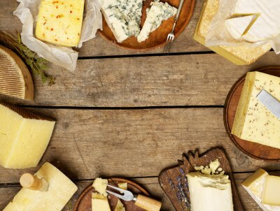 Naklejka Różne rodzaje sera